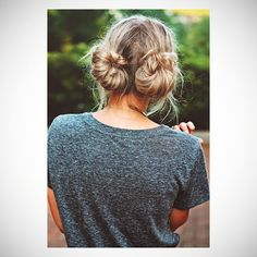 easy hairstyles twin buns