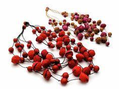 paper necklace by Ana Hagopian --- on Textile Design and Designer`s Platform