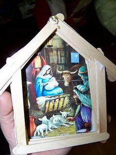 popsicle nativity scene