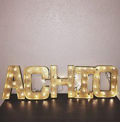Alpha Chi Omega Light Up Greek Letters