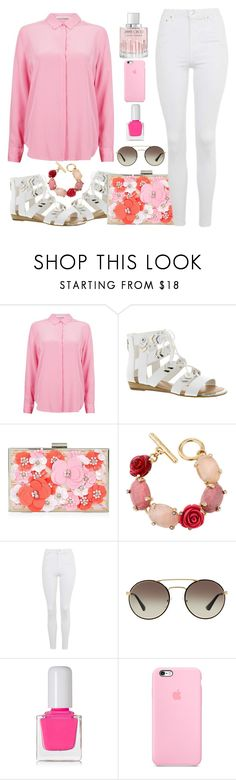 """Untitled #1736"" by anarita11 ❤ liked on Polyvore featuring Fergie, New Look, Oscar de la Renta, Topshop, Prada, tenoverten and Jimmy Choo"