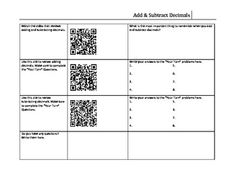 free QR codes Decimal Review- Adding and Subtracting Decimals
