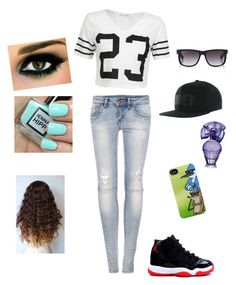 """""""Your Outfit"""" by chocolatelover141423 ❤ liked on Polyvore featuring moda, Pull&Bear, OBEY Clothing, Ray-Ban y BCBGMAXAZRIA"""
