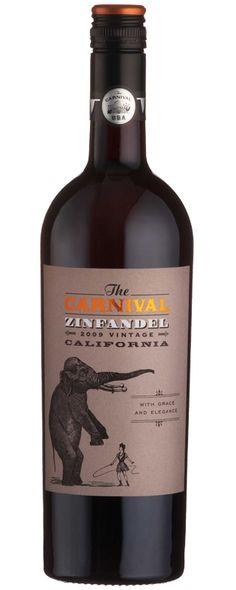 The Carnival Zinfandel wine label