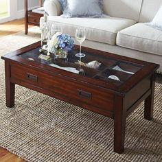 Shadow box coffee table This is exactly what I want to display