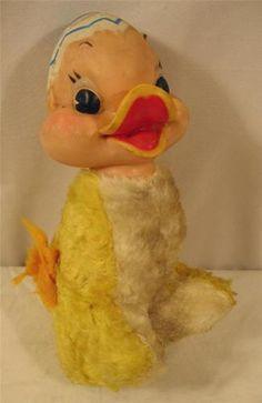 Vintage Rubber Face Head Duck Stuffed Animal Rushton Era Doll Easter Decoration | eBay
