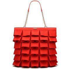 grosgrain plisse priti ($355) ❤ liked on Polyvore featuring bags, handbags, tote bags, purses, accessories, bolsas, fabric, ks handbags, ks handbags/sm goods and kate spade tote bags