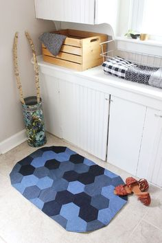 Rug-  use old jeans!