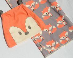 Little Fox Gift Set Organic Baby Swaddling Blanket by SimplyBoco