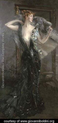 ▴ Artistic Accessories ▴ clothes, jewelry, hats in art - Giovanni Boldini   La Contessa Speranza