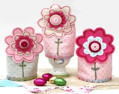 The Flowers - these are egg cozies, but I'd like to find a different way to use them or alter them