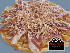 Hojaldre relleno de manzana con jamón serrano #MonteRegio y foie ¡nos encanta este aperitivo!