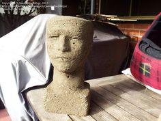 Photo of Hypertufa head planter