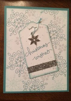 Handmade Christmas card created using the Endless Wishes stamp set from Stampin' Up! ... December 2014