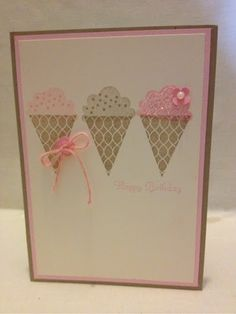 What a great idea - pennant builders and create a cupcake - Cute!! Stampin Up! Ideas  Supplies: Create a 'Ice Cream'