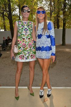 Giovanna Battaglia y Anna Dello Russo, en el desfile de Valentino primavera-verano 2014