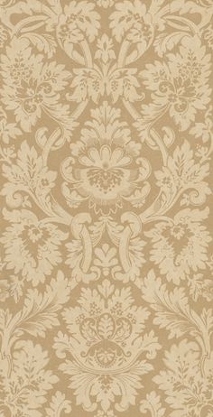 Versailles Antique (ZCDW04012) - Zoffany Wallpapers - A beautiful, timeless damask design in the earthy shades of dusty brown and sandy cream. Evoke opulence and elegance with this large-scale pattern repeat of 101.8cm. Additional colourways also available. Please request sample for true colour match.