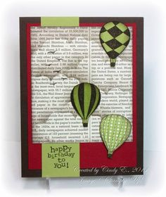 Masculine Birthday Balloons by Cards4Ever - Cards and Paper Crafts at Splitcoaststampers