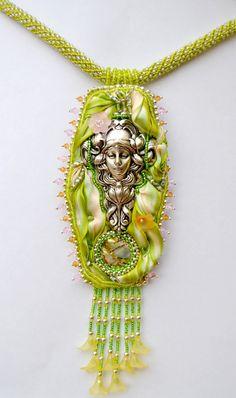 "The Shibori Necklace ""Mother Nature"""