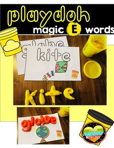 Kindergarten and 1st Grade students will love practicing vowel sounds with this simple phonics game! This handson activity is perfect to use as a literacy center all year! Students will have fun using play-doh to create silent e words during centers time. The multisensory approach also benefits struggling readers and students with dyslexia. This low prep, printable activity is guaranteed to be a hit with your students! #fromkindergartenwithlove #phonicsactivities #literacycenters…