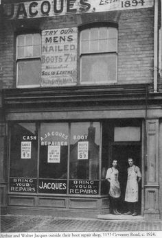 Coventry Rd. 1924. Mens Nails, Birmingham Uk, Coventry, Family History, Old Photos, Vintage Shops, Street Photography, Nostalgia, The Past