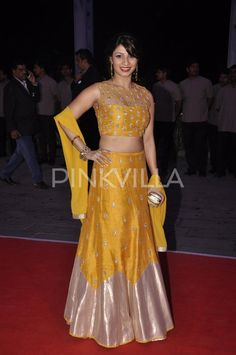 Tanisha in Yellow Lehenga Choli