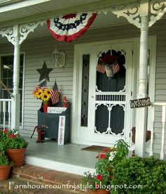 Patriotic Country Front Porch