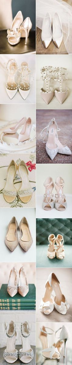 gorgeous neutral colors bridal wedding shoes for your big day #weddingshoes