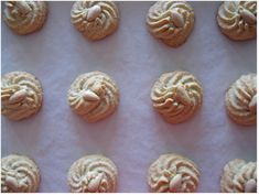 I always look forward to receiving these cookies when guests come over. I mean pastries and baklava are always welcome, but amygdalota. Greek Cookies, Almond Meal Cookies, Greek Sweets, Greek Desserts, Almond Recipes, Greek Recipes, Cookie Recipes, Dessert Recipes, Greek Pastries