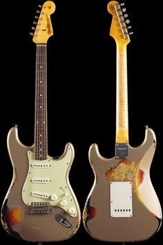 Fender Custom Shop 1960 Stratocaster® Relic Shoreline Gold over 3-Color Sunburst (778)