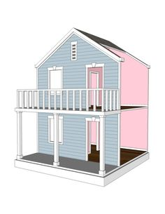 Doll House Plans for American Girl or 18 inch dolls -  4 Room Side Play - NOT ACTUAL HOUSE by addielillian on Etsy https://www.etsy.com/listing/176259102/doll-house-plans-for-american-girl-or-18