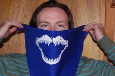 Shark Jaws Bandit Bandana by AdageScreenPrinting on Etsy, $12.00