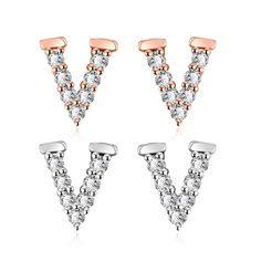 "#Silver&Rose Gold#Cubic Zirconia#Letter ""V"" Shape#Name#Stud Earrings https://wholesaler.alibaba.com/product-detail/SJ-Elegant-Rhodium-Plated-Brass-Alloy_60424052427.html"