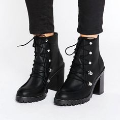 The Ten Best Track Sole Boots//#10 ASOS EISHA Leather Hiker Boots #rankandstyle