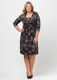 Plus Size Dresses - Maxi & Large Sizes Australian Dresses | Big Ladies, Casual, Black, White, Size 14 Plus Dresses & More - FLOWER BOMB DRESS - Virtu