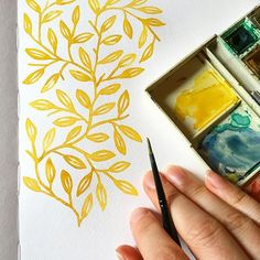 Starting a new pattern in sunny yellow on a mournful and cloudy day. This is my … Starting a new pattern in sunny yellow on a mournful and cloudy day. This is my attempt to brighten things up a bit. I'm sad about Orlando. Watercolor Pattern, Watercolour Painting, Watercolor Flowers, Painting & Drawing, Drawing Flowers, Pattern Drawing, Watercolors, Pattern Painting, Watercolor Design