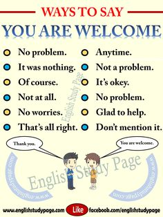 "Other Ways To Say ""You are Welcome"" – English Study Page"