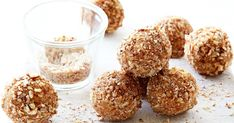 Re-create the classic pumpkin pie with these spiced, pecan-coated bliss balls.