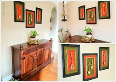 Pinkz Passion : Royale Rama Home Tour - Part 2 Living Room Console, Decor, Indian Wall Decor, Indian Home Decor, Indian Interior Design, Brass Decor, Vintage Decor, Home Decor, Decor Styles