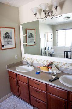 Framed Bathroom Mirror Tutorial