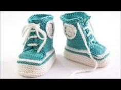 Newborn Crochet Converse Booties Samples - YouTube