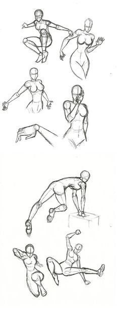 Dynamic Pose practice by *SykoZombieChick on deviantART
