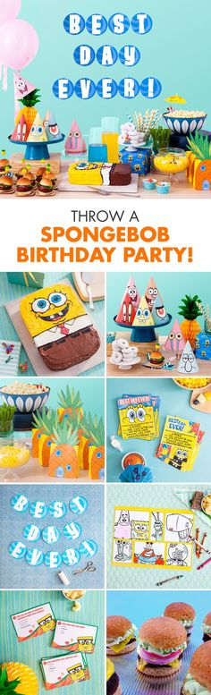 This is your complete guide to a Sponge-tastic celebration! All the recipes, crafts, and free printable party goods you'll need to plan the perfect SpongeBob birthday party for your kid.