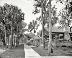 "Daytona Beach, Florida, circa 1908. ""Bungalows on South Street."""