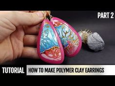 DIY Part 2. How to make Polymer Clay Amazing Earrings - Hidden Magic Technique - YouTube