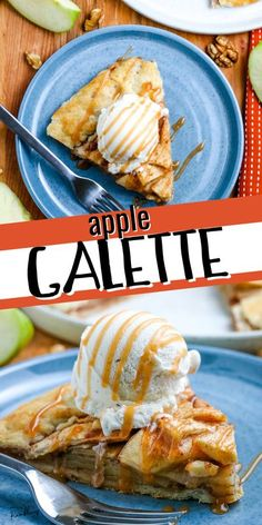 This apple galette is an easy rustic dessert. It is filled with tasty fall apples in a flaky pie crust for a lazy apple pie. Top if off with ice cream or caramel sauce or enjoy it plain for a delicious autumn dessert.