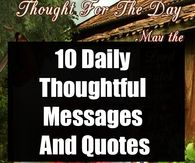 10 Daily Thoughtful Messages And Quotes