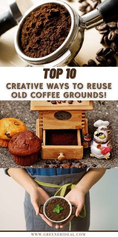 Turn those used coffee grounds into something useful! Reusing your old coffee grounds can a small, but a great step towards improving the sustainability of your lifestyle. Check out these 10 amazing ways to use your old coffee grounds! How To Reuse Old Coffee Grounds | Amazing Tips For Using Old Coffee Grounds | Coffee Grounds | Old Coffee Grounds | Uses Of Old Coffee Grounds | Reuse Old Coffee Grounds #coffee #CoffeeGrounds #Reuse #Upcycle #ecofriendly #GreenLiving #Tips #GoGreen