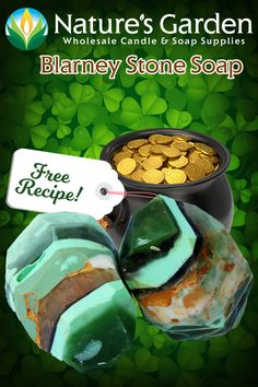 Free Blarney Stone Soap Recipe by Natures Garden