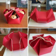 Basteln Sie ein Schachtel-Körbchen